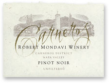 2011 Robert Mondavi Winery Pinot Noir Carneros