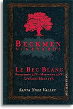 2011 Beckmen Vineyards Cuvee Le Bec Blanc Santa Ynez Valley