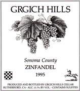 1998 Grgich Hills Cellars Zinfandel Napa Valley