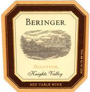 2000 Beringer Vineyards Alluvium Red Wine Knights Valley