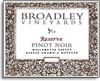 2010 Broadley Vineyards Pinot Noir Reserve Willamette Valley