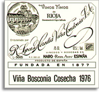 1976 R. Lopez de Heredia Vina Bosconia Gran Reserva Rioja