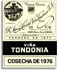 1996 R. Lopez de Heredia Vina Tondonia Blanco Gran Reserva Rioja