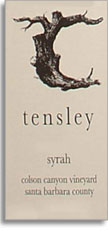 2012 Tensley Syrah Colson Canyon Vineyard Santa Barbara County