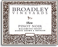 2012 Broadley Vineyards Pinot Noir Shea Vineyard Willamette Valley