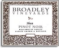 Vv Broadley Vineyards Pinot Noir Shea Vineyard Willamette Valley