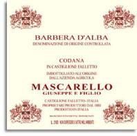 2008 Giuseppe Mascarello e Figlio Barbera d'Alba Superiore Codana