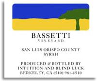 2005 Edmunds St. John Syrah Bassetti Vineyard San Luis Obispo County