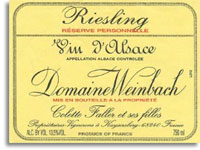 2010 Domaine Weinbach Riesling Reserve Personnelle