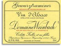 2011 Domaine Weinbach Gewurztraminer Reserve Personnelle