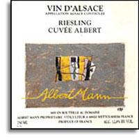 2011 Domaine Albert Mann Riesling Cuvee Albert