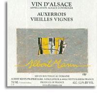 2011 Domaine Albert Mann Pinot Auxerrois Vieilles Vignes