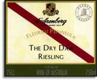 2010 d'Arenberg Riesling The Dry Dam McLaren Vale