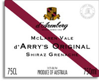 2012 d'Arenberg d'Arry's Original Shiraz/Grenache McLaren Vale