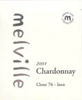 2001 Melville Vineyards And Winery Chardonnay Clone 76 Inox Sta Rita Hills