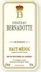 2013 Chateau Bernadotte Haut Medoc
