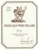 2012 Stag's Leap Wine Cellars Cabernet Sauvignon Fay Vineyard Napa Valley