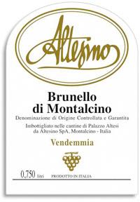 2006 Altesino Brunello Di Montalcino
