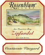 2002 Rosenblum Cellars Zinfandel Continente Vineyard San Francisco Bay