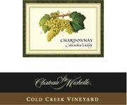 2010 Chateau Ste. Michelle Chardonnay Cold Creek Vineyard Columbia Valley