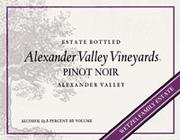 2010 Alexander Valley Vineyards Pinot Noir Alexander Valley