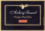 2012 Archery Summit Winery Pinot Noir Premier Cuvee Willamette Valley
