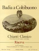 2003 Badia A Coltibuono Chianti Classico Riserva