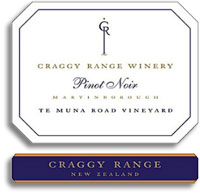 2010 Craggy Range Vineyards Pinot Noir Te Muna Road Martinborough