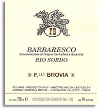 1989 Fratelli Brovia Barbaresco Rio Sordo