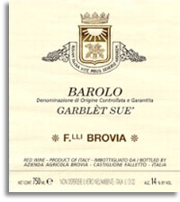 2010 Fratelli Brovia Barolo Garblet Sue