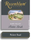 2005 Rosenblum Cellars Petite Sirah Pickett Road Napa Valley