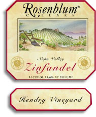 2003 Rosenblum Cellars Zinfandel Reserve Hendry Vineyard Napa Valley