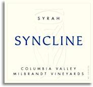 2002 Syncline Wine Cellars Syrah Milbrandt Vineyards Columbia Valley
