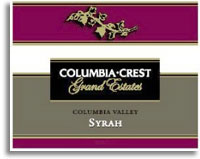 2011 Columbia Crest Winery Shiraz Grand Estates Columbia Valley