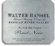 2013 Walter Hansel Winery Pinot Noir The North Slope Vineyard Russian River Valley