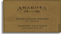2008 Anakota Cabernet Sauvignon Helena Dakota Knights Valley