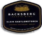 2012 Backsberg Estate Klein Babylons Toren Paarl