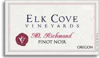 2012 Elk Cove Vineyards Pinot Noir Mount Richmond Willamette Valley