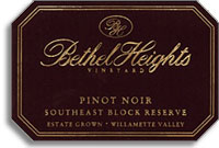 2011 Bethel Heights Vineyard Pinot Noir Southeast Block Reserve Willamette Valley