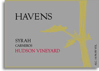 2002 Havens Wine Cellars Syrah Hudson Vineyard Carneros