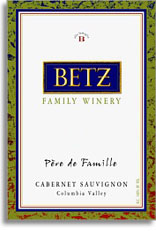 2013 Betz Family Vineyards Cabernet Sauvignon Pere de Famille Columbia Valley