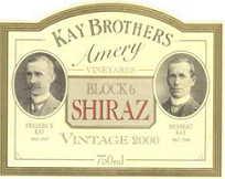 2002 Kay Brothers Amery Block 6 Shiraz Mclaren Vale
