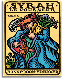 2010 Bonny Doon Vineyard Syrah Le Pousseur Central Coast