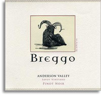 2011 Breggo Cellars Pinot Noir Savoy Vineyard Anderson Valley