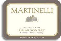2007 Martinelli Winery Chardonnay Martinelli Road Russian River Valley