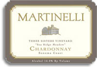 2012 Martinelli Winery Chardonnay Three Sisters Vineyard Sea Ridge Meadow Sonoma Coast