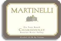 2012 Martinelli Winery Chardonnay Zio Tony Ranch Russian River Valley