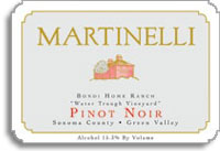 2012 Martinelli Winery Pinot Noir Bondi Home Ranch Water Trough Vineyard Green Valley of Russian River Valley