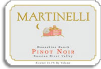 2011 Martinelli Winery Pinot Noir Moonshine Ranch Russian River Valley