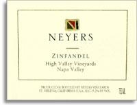 2007 Neyers Vineyards Zinfandel High Valley Vineyards Napa Valley